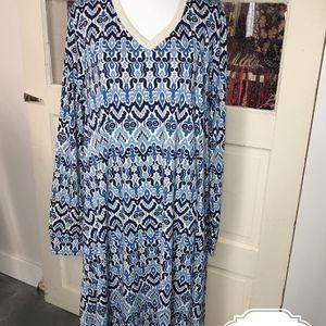 Lularoe Large Emily Swing Dress